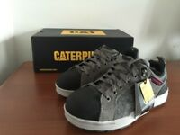 Ladies New Caterpillar CAT Brode Work Safety Trainers Shoes Grey