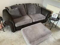 Sofa and cuddle chair set £500 ONO