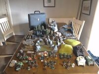 Warhammer 40k Space Marine Army, carry case and scenery