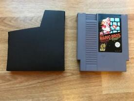 Nintendo NES super mario bros game and sleeve