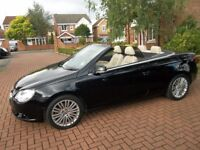 2007 57 VOLKSWAGEN EOS SE 140 BHP CONVERTIBLE WITH PANORAMIC GLASS ROOF