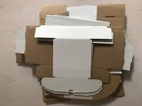 Lot of White Postal Packaging Boxes, various sizes worth £66