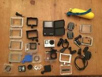 GoPro hero 4 black with Accessories VERY Good Condition