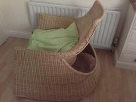 Ikea HEJKA rattan rocking chair