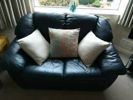 Leather sofa settees