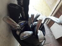 Full set of golf clubs with big bertha driver. Bag and balls