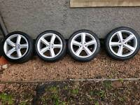 Audi a4 genuine S line alloys and wheels x4