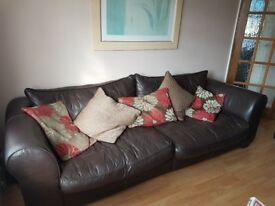 Sofa set (2 seater and 4 seater) with pillows