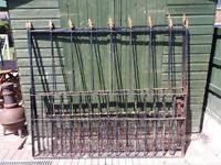 wrought iron well constructed no rot good and solid, could do with painting etc.