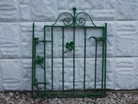 Wrought iron gate / garden gate / metal gate / galvanised gate / side gate / ponds / steel gate