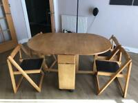 Folding table chairs