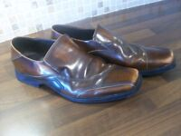 MEN'S PATRICK COX BROWN LEATHER SHOES- SIZE 8- WORN ONCE.