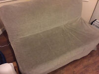 Ikea light grey sofa bed in good condition