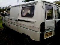 Renault campervan diesel reiable starts first time,just needs some tlc