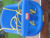 Little Tikes Baby Swing Seat in blue excellent condition, locking t bar strong ropes & fittings