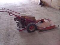 A vintage Belos Traktor mower
