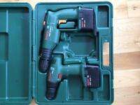 Bosch drills and hard carry case.