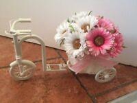 Mini Handmade Bicycle Flower Basket, Plastic, NEW