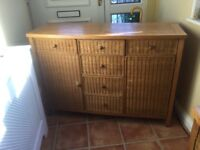 FREE two pine chests with wicker drawer fronts. Buyer to collect.