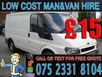CHEAP MAN AND VAN HIRE - 24/7 AVAILABLE - DELIVERY/ REMOVALS/ MOVING/ COLLECTION/ BIKE RECOVERY HIRE