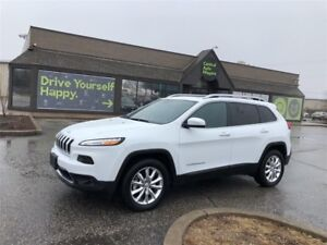 2017 Jeep Cherokee Limited - 4X4 / LEATHER/SUNROOF