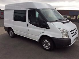 08 Ford Transit T280 SWB 110HP Semi Hi Top Crew Van