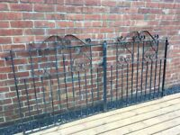 8ft Wide Wrought Iron Driveway Gates- DELIVERY AVAILABLE