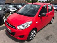 2012/12 HYUNDAI I10 1.2 CLASSIC,5 DOOR RED,,1 OWNER FROM NEW,£20 ROAD TAX,GREAT ECONOMY,DRIVES WELL