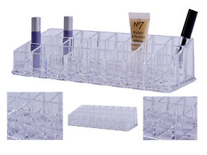 Nail Polish Lipstick Make Up Clear Display Acrylic Stand Cosmetic Organiser Tidy