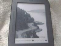 A nook ebook ereader in good condition in a case tex