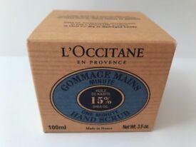 L'Occitane Shea Oil One Minute Hand Scrub 100ml, new & sealed