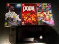 Nintendo Switch with 3 Games + 32GB SD Card
