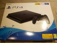 PS4 brand new still sealed 500gb black