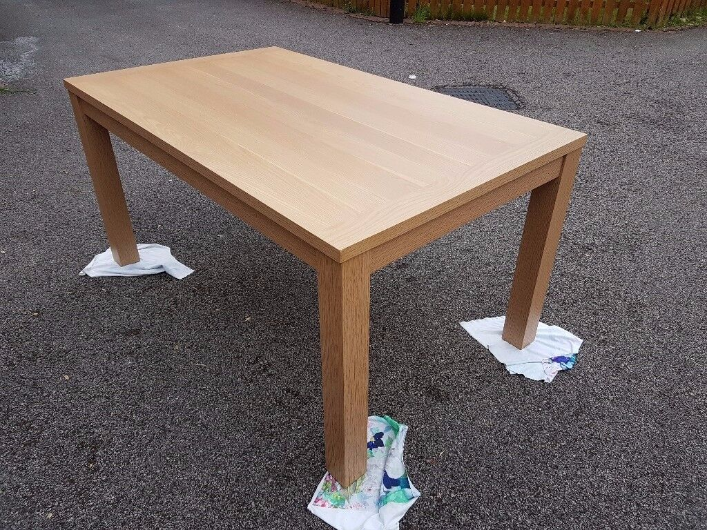 Brand New Oak Effect Dining Table FREE DELIVERY 008