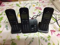 Digital Cordless Phone; 3-handsets, Panasonic with answering system