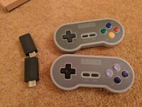 8Bitdo SF30 2.4G Wireless Controller Gamepad / Receiver for SNES and SFC Classic