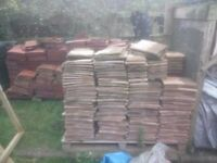 Red Roof Tiles and Ridge Tiles Red terracotta about 5000+ Red clay Rosemary 900 Ridge Tiles 50