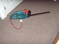 BOSCH HEDGE TRIMMER, MODEL AHS 42-16, 230V-420W, HARDLY USED £30 O.N.O