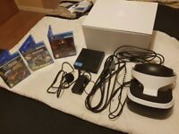 Playstation VR headset with 3 gamed