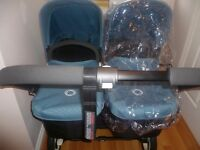 BUGABOO DONKEY TWIN (PETROL BLUE) IN EXCELLENT CONDITION WAS ��1,400 NOW REDUCED TO ��1,200!!