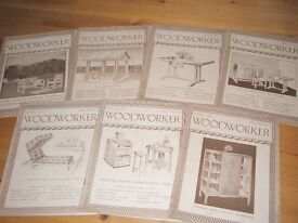 Woodworker magazines-old copies from 30's 40's and 50's
