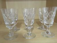 Crystal Port/Sherry Glasses x 5