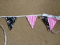 Girls Pirate Bunting x2 for bedroom, playhouse or party