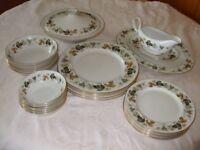 Vintage Royal Doulton Larchmont dinner set, set for six people