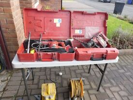 Good Quality Hilti Drills with some tooling ,complete with, transformer and extension