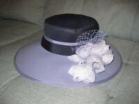 Navy and Lilac Wedding Hat