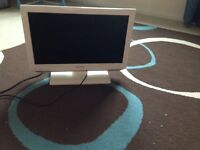 "White 19"" tv with built in DVD. Excellent condition. Flat screen"