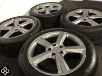 "GENUINE AUDI 20"" ALLOY WHEELS & TYRES- 5 X 112 -275 45 20 - GLOSS GRAPHITE - (AUDI,VW) Wheel Smart"