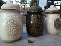 3x Vintage Antique RUMTOPF 801-26 preserving storage jar pot Scheurich W. Germany West German