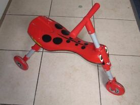 Quick Smart Scuttle Bug: The Cutest Ride on 3 Wheels (Red and Black)